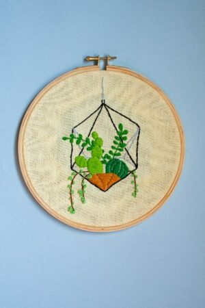 Buy Hanging Succulents Embroidery Hoop