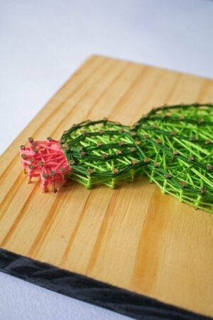 Cactus In A Cup String Art Wall Hangings