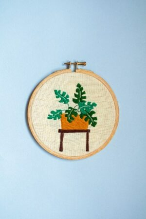 Leafy Plant Embroidery Hoops