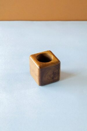 Small Cube Wood Planter